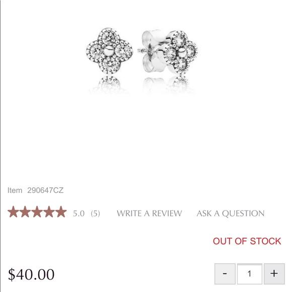 8c8b294de Pandora Jewelry | Oriental Blossom Stud Earrings | Poshmark